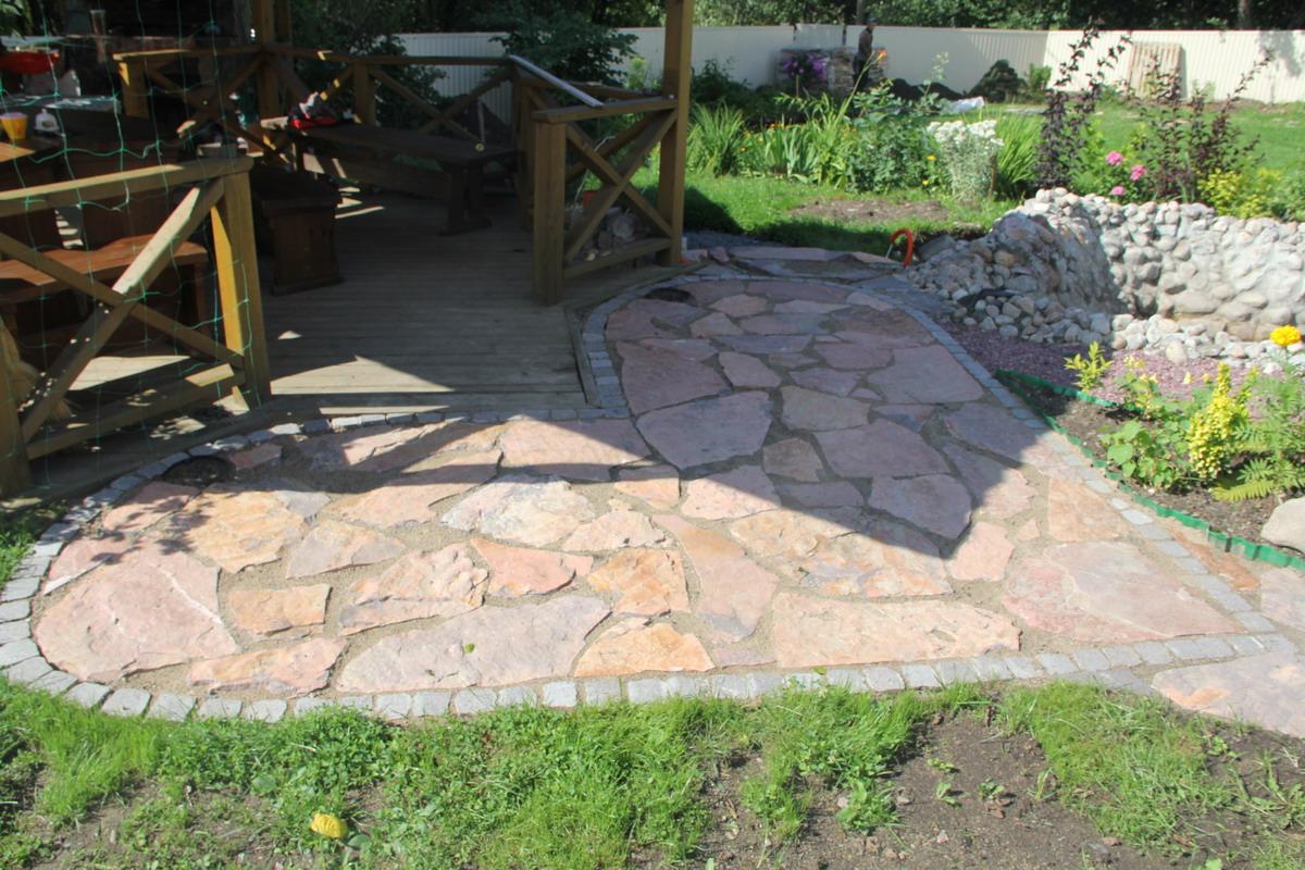 Тротуар из камня своими руками 53