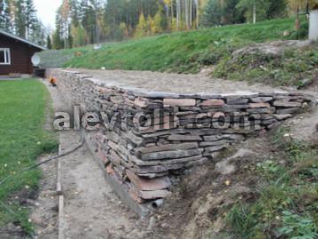 Подпорная стенка из Алевролита
