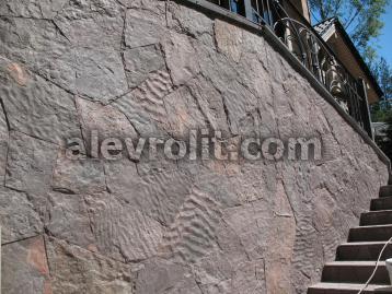 Облицовка стенки алевролитом