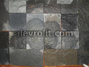 Плитка из шунгитового плитняка 100*100 мм