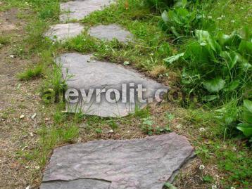 Дорожка из больших плит Алевролитового сланца